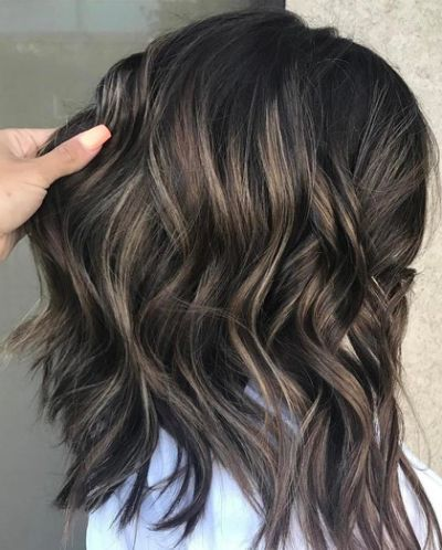 Black Hair With Ash Brown Highlights Ash Hair Color Hair Styles Dark Hair With Highlights