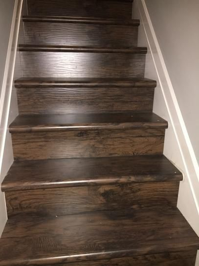 Cap A Tread Saratoga Hickory 47 In Length X 12 1 8 In Wide X 1   White Oak Stair Treads Home Depot   Stairtek   Laminate   Stair Parts   Landing Tread   Handrail