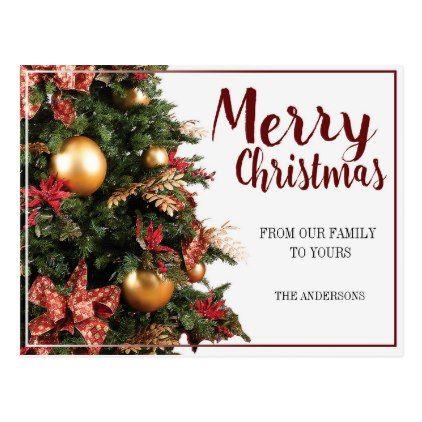 Merry Christmas Postcard Zazzle Com Christmas Postcard