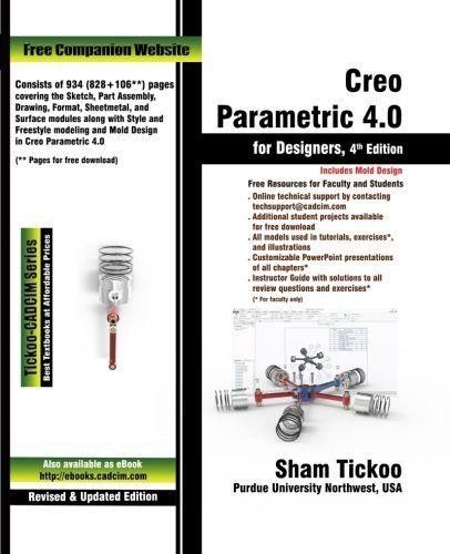 Creo Parametric 4 0 For Designers Pdf Design Mould Design Free Design