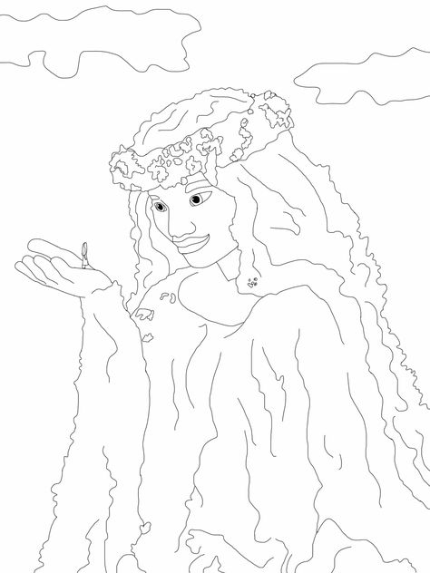 Te Fiti Coloring Page Moana Moana Coloring Disney Coloring Pages