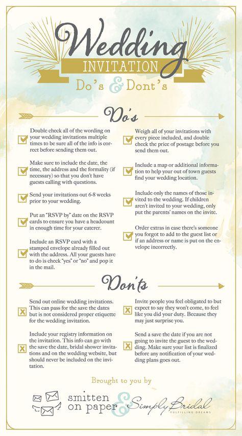 Wedding Invitation Etiquette Do's & Dont's #ChipotleWeddingSweepstakes