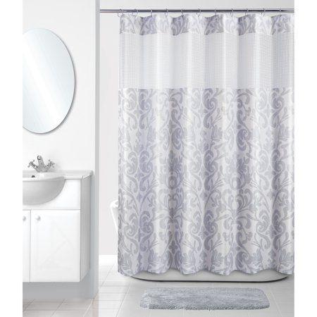 Home Fabric Shower Curtains Shower Curtains Walmart Grey Curtains