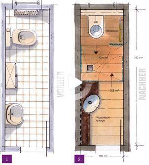 Kleine Bader Minibader Kleine Badezimmer Unter 4m In 2020 Small Bathroom Bathroom Floor Plans Bathroom Layout Plans