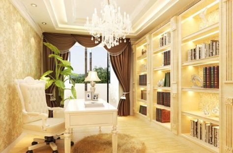 Search Neoclassical French Study Room Interior Design House on Home Decor Popular French Neoclassical Color Schemes