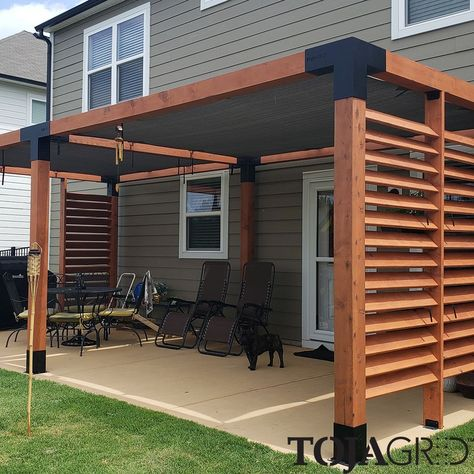 The pergola you choose will probably set the tone for your outdoor living space, so you will want to choose a pergola that matches your personal style as closely as possible. The style and design of your PerGola are based on personal Diy Pergola, Modern Pergola, Outdoor Pergola, Pergola Shade, Pergola Plans, Shade For Patio, Wood Pergola, Small Pergola, Deck Shade