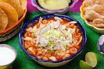 El pozole (del náhuatl pozolli, de tlapozonalli, «hervido» o «espumoso», o del cahíta posoli, «cocer maíz») es un platillo de México. Es una especie de caldo hecho a base de granos de maíz de un tipo conocido comúnmente como cacahuazintle, a la que se le agrega, según la región, carne de pollo o de cerdo como ingrediente secundario.