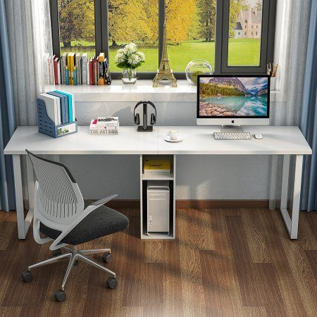 Tribesigns 78 Extra Large Double Workstation Computer Desk For Two Person Simple Modern Style Offic Desk For Two Home Office Design Computer Workstation Desk