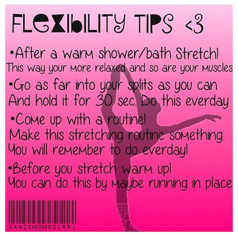 Great for the dancers' packet for tips and tricks they will receive at the beginning of the year