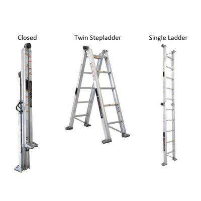 Murphy Ladder Multi Position Ladders Ladders The Home Depot In 2020 Ladder Multi Purpose Ladder Aluminium Ladder