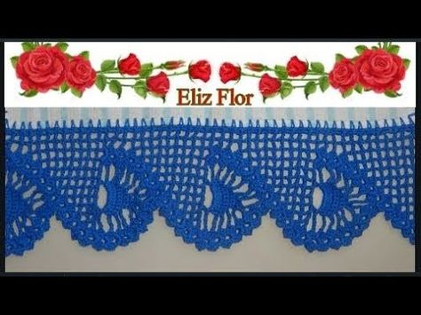 Barrado Em Croche Para Panos De Pratos Modelo 111 Barrados De