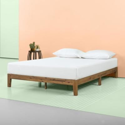 Zinus Lucinda Twin 10 In Wood Platform Bed Rustic In 2020 Wood Platform Bed Platform Bed Frame Bed Frame