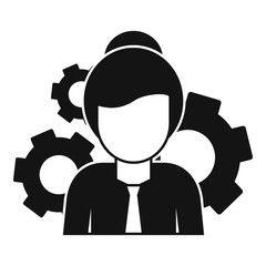 Woman Managing Skills Icon Simple Illustration Of Woman Managing Skills Vector Icon For Web Design Isolated On W Simple Illustration Illustration Vector Icons