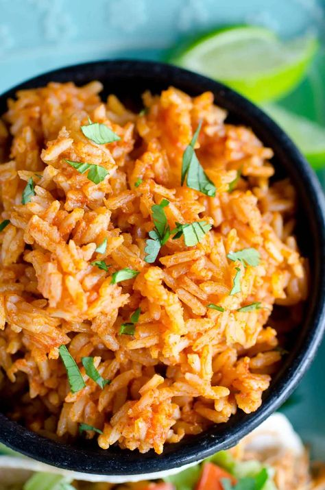 This easy Mexican rice recipe is SO simple you'll want to make it every Taco Tuesday, or as a side dish for all your Mexican meals!