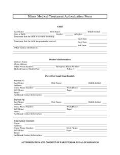 medical consent form children travel consent form consent forms emergency contact form