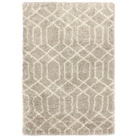Carpet Art Deco Loft Shag Beige Ironwork Beige Indoor Area Rug