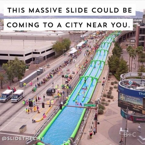 A big block party is on its way to the Biggest Little City for the first time.Slide the City will come to Reno in June, according to a statement from the company.The event will see a giant water slide take over Ralston Street on June