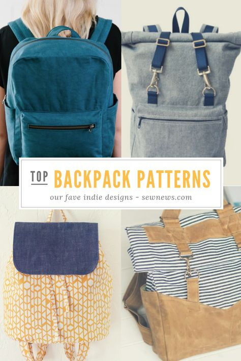 Favorite Sewing Projects Read about our favorite indie backpack patterns! Backpack Tutorial, Diy Backpack, Backpack Pattern, Backpack Sewing Patterns, Diy Sewing Projects, Sewing Projects For Beginners, Sewing Hacks, Sewing Ideas, Diy Bags Purses