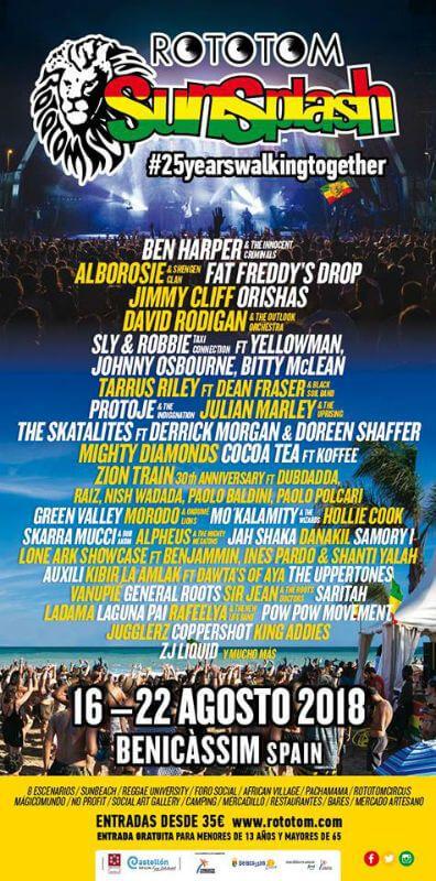 Rototom Sunsplash Festival 2018 Reggae Festival Festival European Festivals