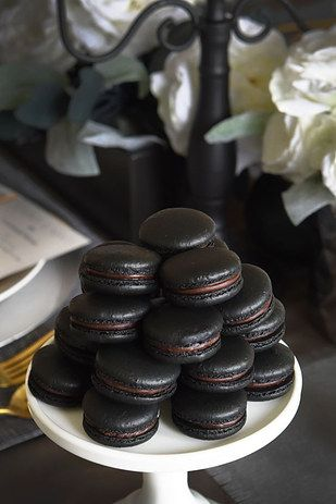 Create an all-black dessert bar. | 18 Wedding Ideas For People Who Are Obsessed With Halloween