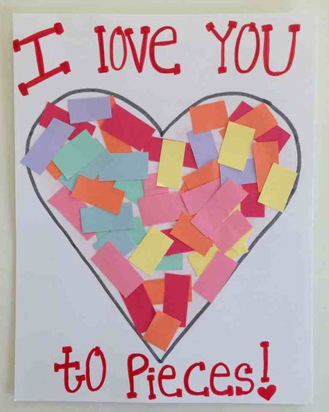 Over 21 simple valentine's day crafts for toddlers and kids to make - adorable and easy Preschool Valentine Crafts, Kinder Valentines, Daycare Crafts, Valentines Day Activities, Classroom Crafts, Toddler Crafts Valentines Day, Valentines Crafts For Preschoolers, Homemade Valentines, Kindergarten Classroom