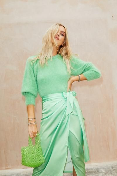 Green On Green Neverfullydressed Fashion Dress Up Jade Green