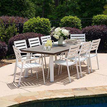 amalfi 9 piece dining set outdoor