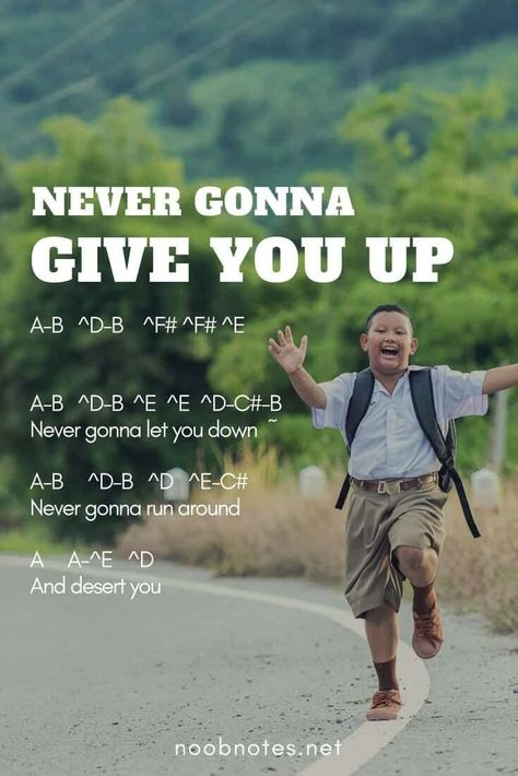 Never Gonna Give You Up – Rick Astley – music notes for newbies