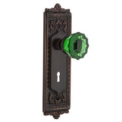 nostalgic warehouse emerald crystal door knob with egg and dart
