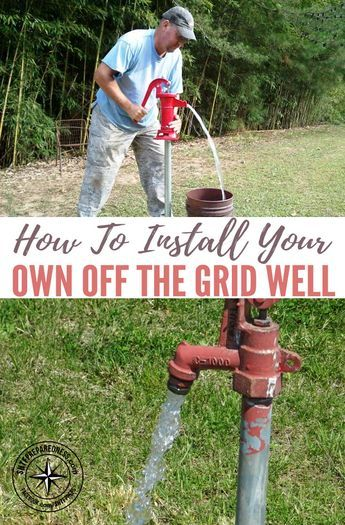 How To Install Your Own Off The Grid Well — Water is the most essential thing we need for life. With out water we will die within 3 days. Knowing how to install a water well is vital if not the most essential knowledge we could ever have stored in our bra Homestead Survival, Survival Prepping, Emergency Preparedness, Survival Skills, Survival Shelter, Survival Gear, Emergency Supplies, Wilderness Survival, Survival Weapons