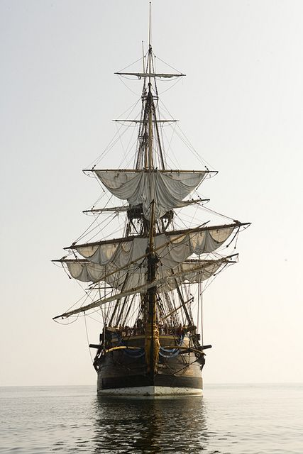 """A tall ship is a large, traditionally-rigged sailing vessel. Popular modern tall ship rigs include topsail schooners, brigantines, brigs and barques. """"Tall Ship"""" can also be defined more specifically Moby Dick, Bateau Pirate, Old Sailing Ships, Tall Ships Race, Black Sails, Wooden Ship, Pirate Life, Sail Away, Wooden Boats"""