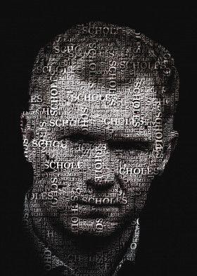 Paul Scholes Typography Text Art Poster Print | metal posters - Displate
