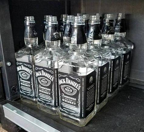 Empty Jack Daniels Bottle, Liquor Bottles for Crafts and Decor