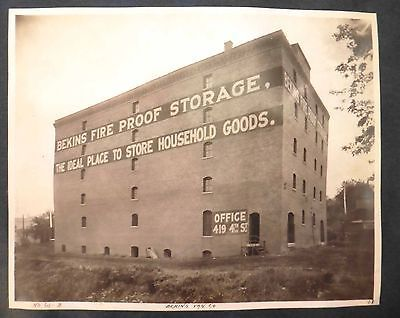 Original 1908 8x10 Photo Sioux City Iowa Bekins Fire Proof Storage Building Collectible Photographic Images Pinterest And