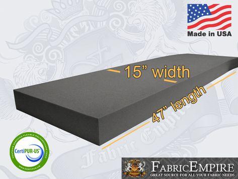 15x47 Firm Rubber Foam Sheet Premium Seats Cushion Upholstery Usa