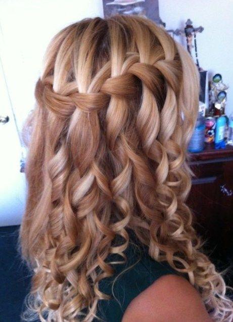 Peinados Con Rizos Y Trenzas Trendypeinados Trendy2019 Hair Styles Curly Prom Hair Dance Hairstyles
