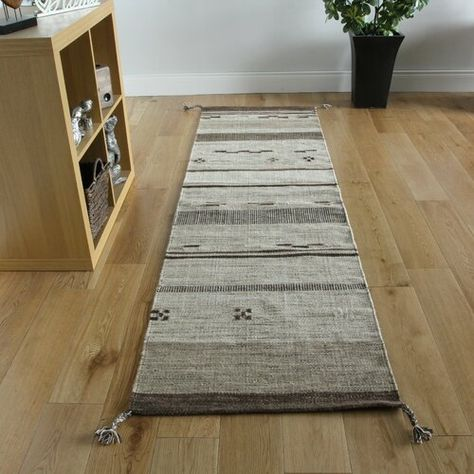 Mensa Handwoven Wool Beige Rug Kukoon Rug Size Runner 70 X 140cm Rugs Simple Home Decoration Carpet