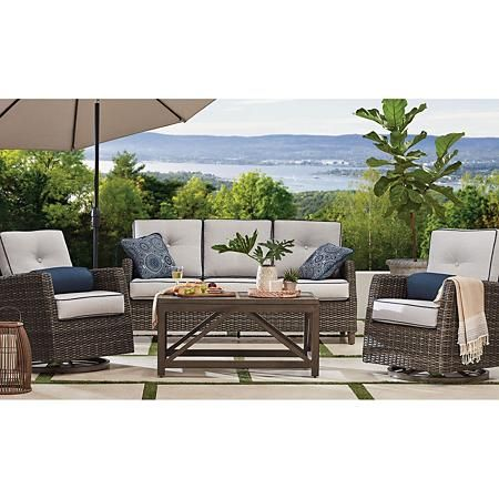 Member S Mark Agio Fremont 4 Piece Patio Deep Seating Set With