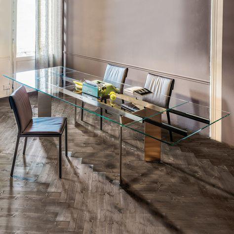 Tavoli Allungabili In Vetro Cristallo.Elan Drive Nel 2020 Tavolo Da Pranzo In Vetro Tavolo Cristallo