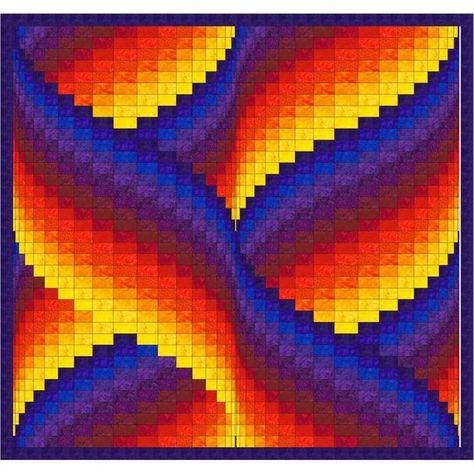 Ribbon Swirls Bargello Quilt Pattern