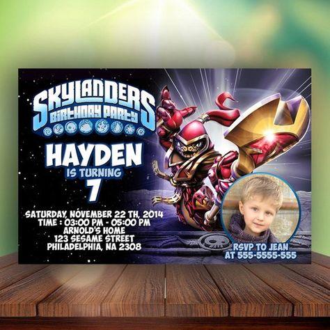 SkylandersSkylanders InvitationSkylanders PrintableSkylanders CardSkylanders BirthdaySkylanders