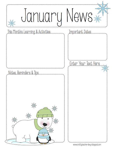January Newsletter for ALL Grades! Preschool, Pre-K, Kinder, etc