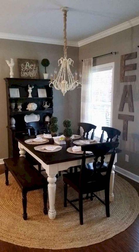 74+ Stuning Farmhouse Dining Room Decor Ideas #diningroomideas #diningroomdecorating #diningroomdesign