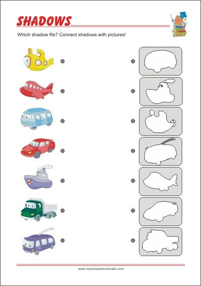 Find The Shadow Riddles For Kids Visual Perception Training Visual Discrimination Activities Visual Perception Activities Visual Perception Worksheets