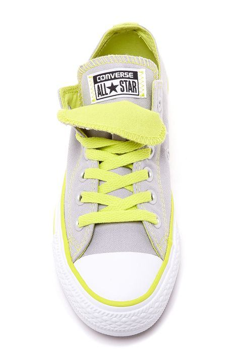 Converse Chuck Taylor - Double Tongue Oxford Sneaker - Gray and Yellow
