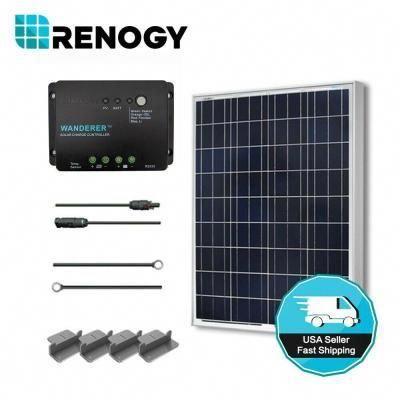 Renogy 100 Watt 12 Volt Polycrystalline Solar Starter Kit For Off Grid Solar System Solar Energy Diy 12v Solar Panel Solar Energy