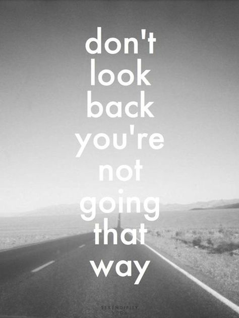 Don't look #back