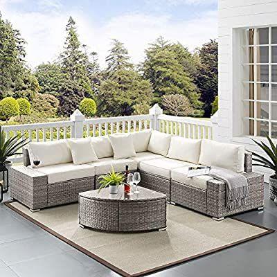 tribesigns 6 pieces outdoor patio sofa