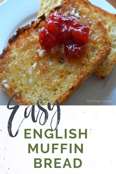 You will never buy English muffins again after you bake up some of this no-knead easy English muffin bread! Pain Muffin Anglais, English Muffin Bread, English Muffins, English Muffin Breakfast, Breakfast Muffins, Biscuit Bread, Yeast Bread, No Knead Bread, Tandoori Masala