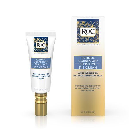 Roc Retinol Correxion Anti Aging Sensitive Skin Eye Cream 5 Fl Oz Walmart Com Anti Aging Sensitive Skin Anti Aging Skin Products Aging Skin Care